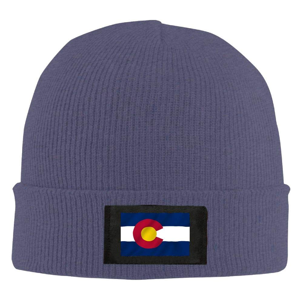 DLOAHJZH-Q Adult Unisex Colorado State Flag Gay Pride Student Knitted Hat