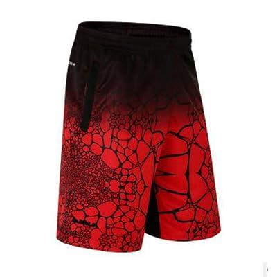 ADA-XSHION Men's Basketball Shorts Floral Sport Trousers Pants Jogging Running