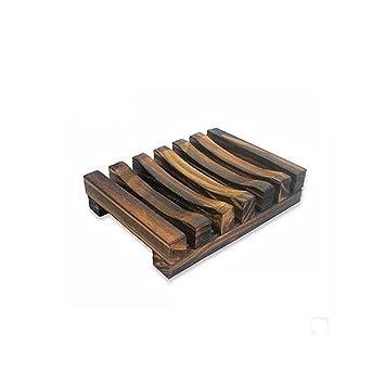 Amazon.com: kemilove accesorios de baño hecho a mano Madera ...