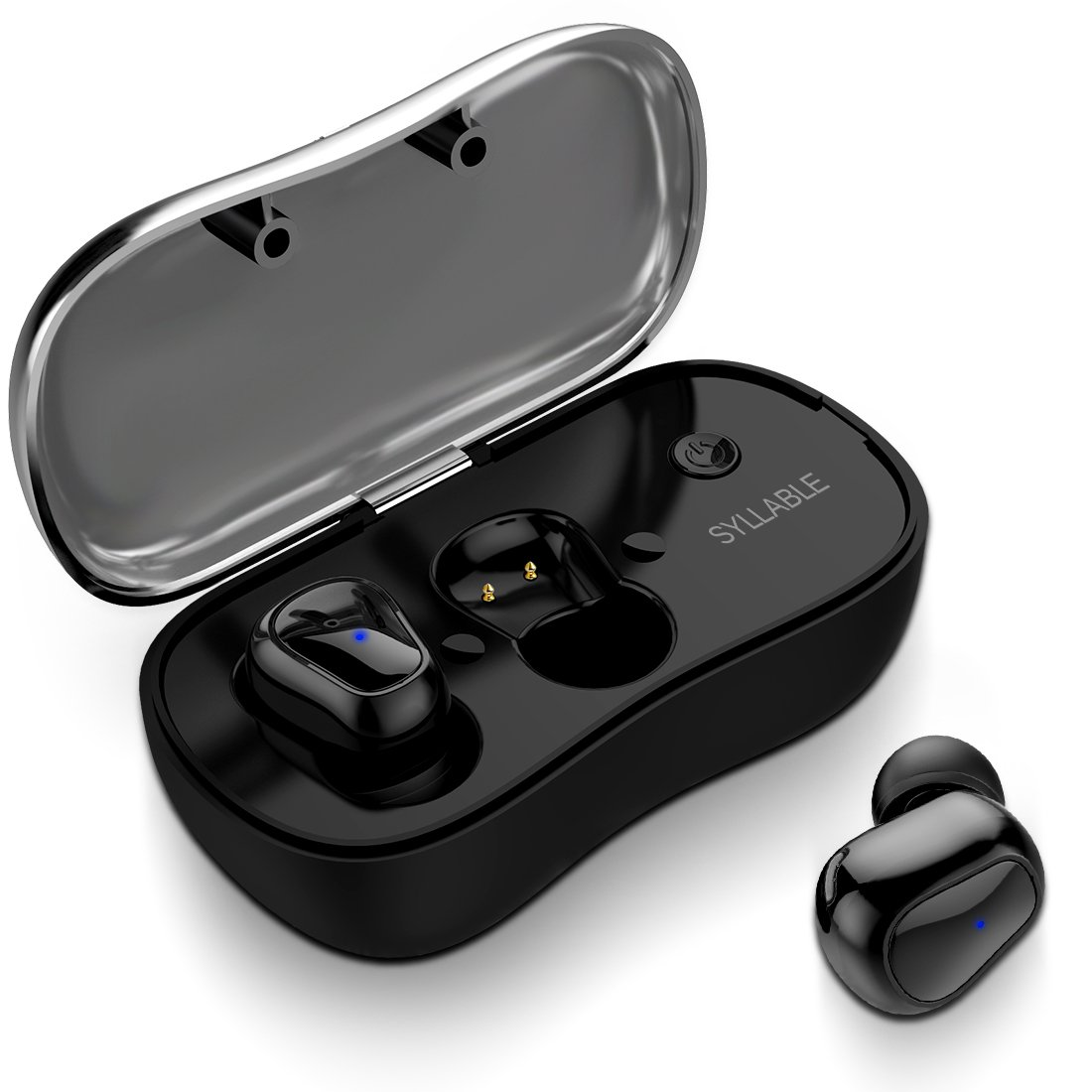 Wireless Earbuds, Bluetooth Headphones with Mic HiFi Sound Sweatproof Sports Ear Pods with Charging Case for Android Apple iPhone, Black