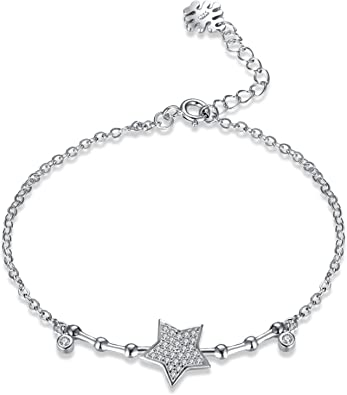 bracelet argent etoile femme