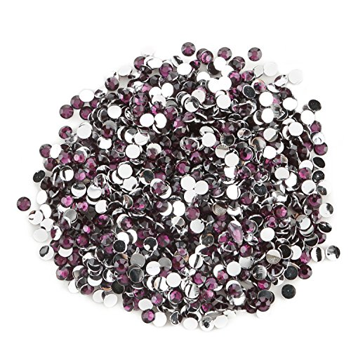 Round Beads for Jewelry Making - Flat Back Clear Crystal Rhinestones (3 mm) Wholesale Bulk - Yazycraft -