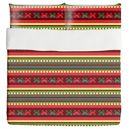 Mountain Kilim Duvet Bed Set 3 Piece Set Duvet Cover - 2 Pillow Shams - Luxury Microfiber, Soft, Breathable by uneekee