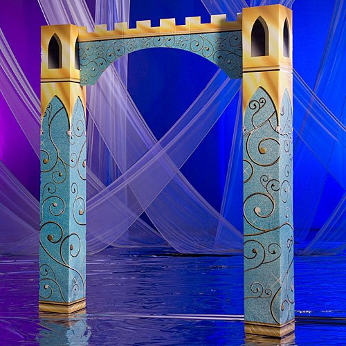 9 ft. 4 in. Fairytale Castle Entrance Standup Photo Booth Prop Background Backdrop Party Decoration Decor Scene Setter Cardboard Cutout