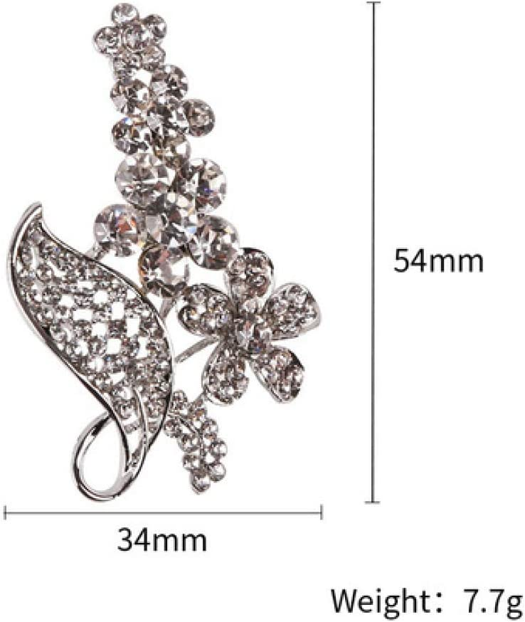 SummerTNG Fashionable and Refined Out Brooches,Electroplated Rhinestone Brooch