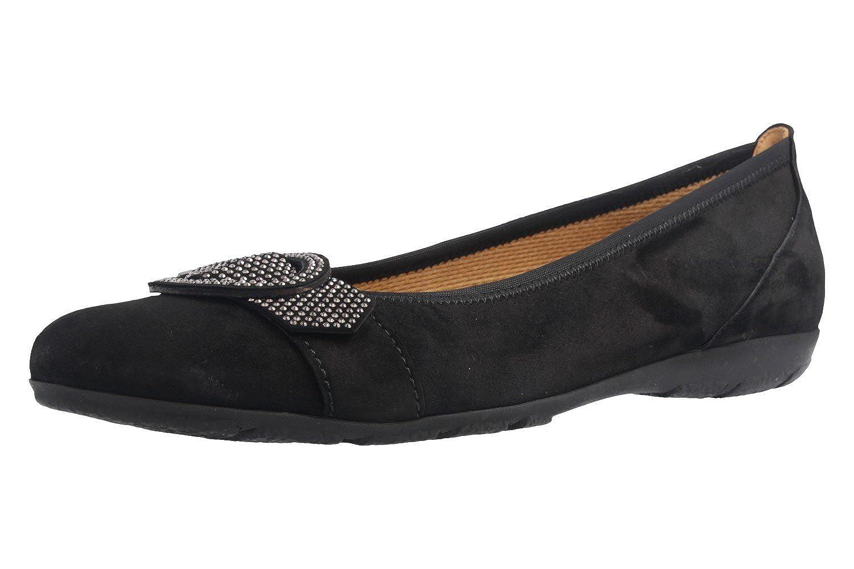 Gabor - - Damen Ballerinas - Gabor Schwarz Schuhe in Übergrößen 987db4