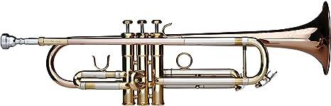 Bb-Trompete Blasinstrument Edelstahl Ventile Koffer Mundstück
