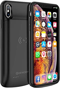 Portable Rechargeable Battery Case Protective Backup Charger Case 6.5inch 10000mAh Charging Extended Battery Pack Case Compatible with iPhone Xs Max NEWDERY Battery Case for iPhone Xs Max