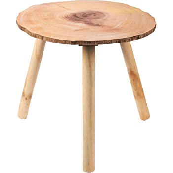 Amazon Com Welland Wood End Table Modern Round Coffee
