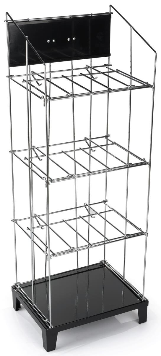 newspaper rack 1. Amazon.com : Wire Newspaper Floor Rack With 3 Removable Shelves, Holds Up To 90 Newspapers, Built-in Sign Channel Literature Organizers Office Products 1 E