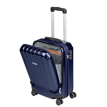 le dernier 4f0c0 9580f Valise Cabine avec Compartiment Ordinateur Portable Bagage à main Trolley  Rigide et Léger 4 Roulettes Doubles pivotantes à 360º Serrure TSA Sulema ...