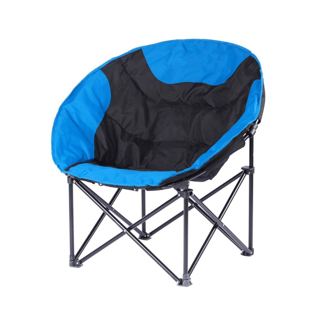 ロッキングチェア 折りたたみチェアキャンプチェア折り畳み式ポータブルアダルトビーチガーデンベッドルームバーベキュー、120kg(多色) (色 : 青)  青 B07H71K7QS