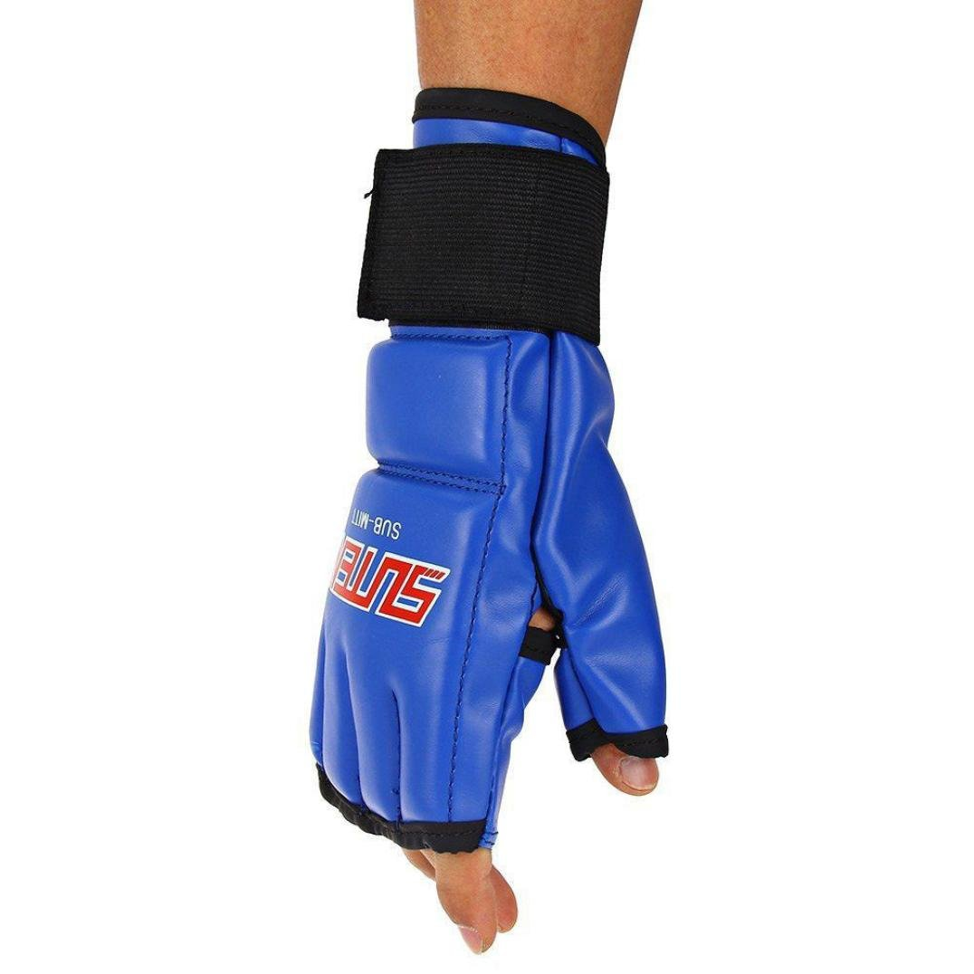 Bestpriceam Cool MMA Muay Thai Training Punching Bag Mittsスパーリングボクシンググローブジムブルー