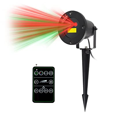 Starry Animated Outdoor Laser Light,Red Laser Animation Projector for Chritmas (Red & Green): Home Improvement