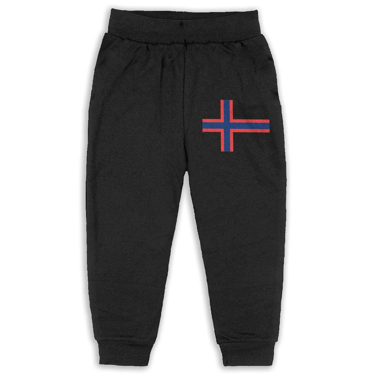 EASON-G Kids Joggers Norwegian Flag Fashion Sweatpants 2T 6T
