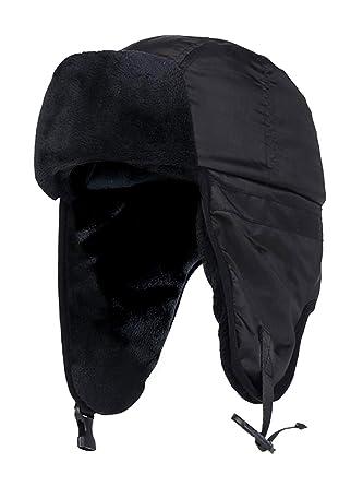 52491b2f30e8f HEAT HOLDERS - Mens Waterproof Fleece Lined Winter Thermal Trooper Trapper  Hat Ear Flaps  Amazon.co.uk  Clothing