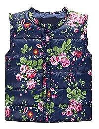 Boys Girls Winter Camouflage Padded Puffer Vest