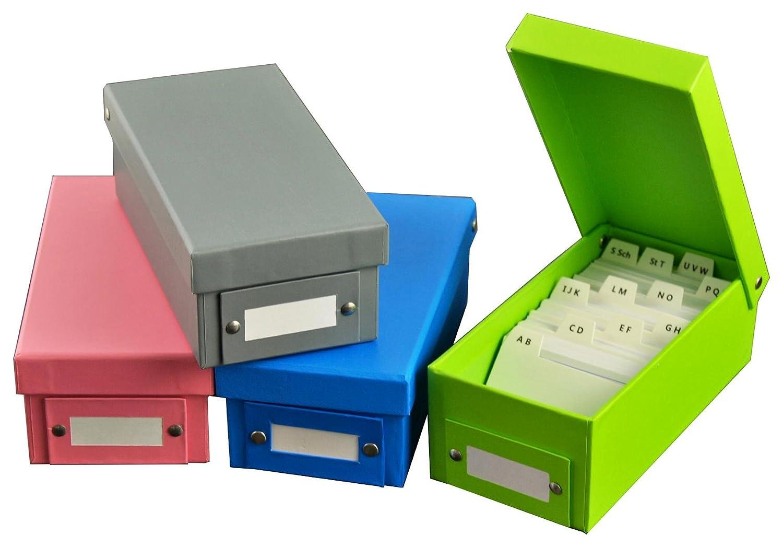 1600 Karteikarten 4 verschiedene Farben 4x Lernbox Karteikasten DIN A8