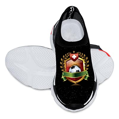 2018 World Cup Swiss Football Team 3D Printing Customized Fashion Low Flyknit Outdoor Comfortable Sports Football Casual Cartoon children Shoes White
