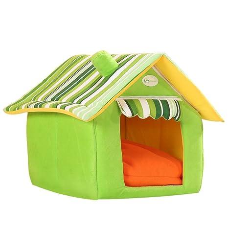 Qianle peluche cálida casa de mascota Perro Cama Casa Cama Para Mascota