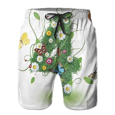 Desconocido Hombres Bañador Shorts de Playa Cafetera Antigua ...