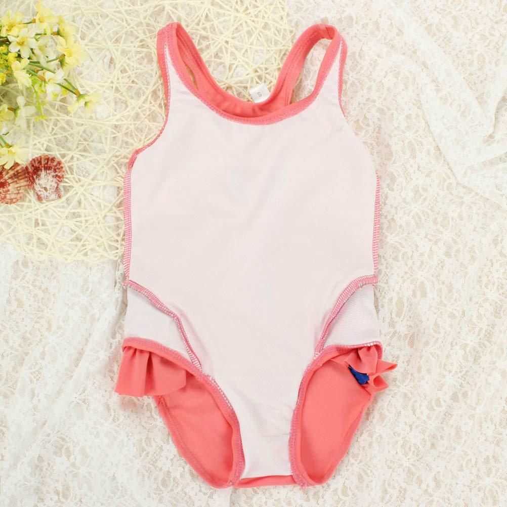 ARAUS Costume da Bagno Bambina Tuta Bimba Senza Maniche per Il Nuoto Tute Intero Ragazze