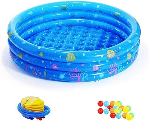 Soaking bath & Piscina de natación Aislamiento en el hogar Bañera Bañera Inflable para niños Jardín Piscina para niños Adultos con Bomba de pie, Azul (Size : 115 * 30cm): Amazon.es: Hogar