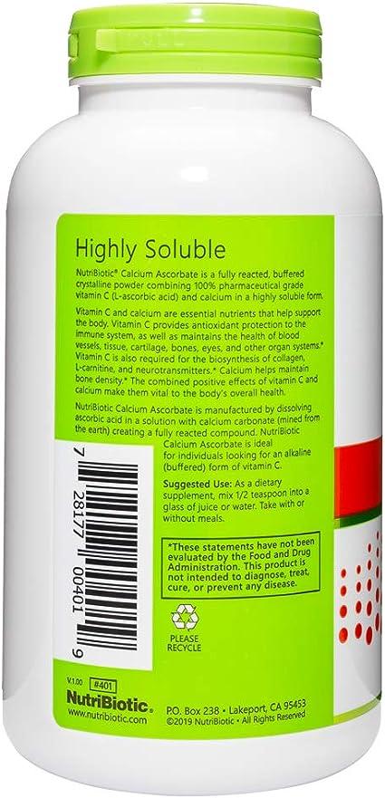El ascorbato de calcio, Polvo cristalino 16 oz (454 g ...