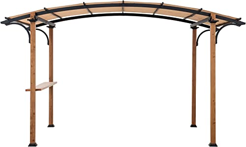 Sunjoy A106004502 Aura 10×7.75 ft. Steel Arched Pergola