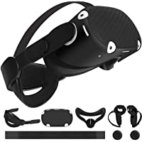 Esimen 5 in 1 Adjustable Oculus Quest 2 Accessories Head Strap for Oculus Quest 2 VR Skin Face Cover Grip Cover,Enhanced…