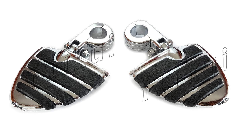 YUIKUI RACING オートバイ汎用 1-1/4インチ/32mmエンジンガードのパイプ径に対応 ハイウェイフットペグ タンデムペグ ステップ YAMAHA XV 250/535/750 VIRAGO All years等適用   B07PYG6GVQ