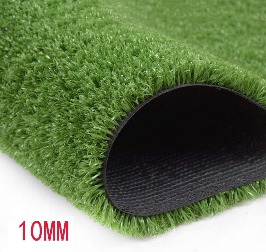 XEWNEG 合成人工芝草10mmパイルの高さ、庭の廊下のバルコニーの装飾に適した高密度の緑の偽の芝生(1mx2m) (Size : 2x15M)