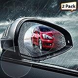 [2-Pack] Car Rearview Mirror Protective Film, Zeking Waterproof Rainproof Rear View Mirror Window Clear Protective Film [Anti Fog] [Anti-Glare] [Anti-Scratch], Lifetime Replacement Warranty