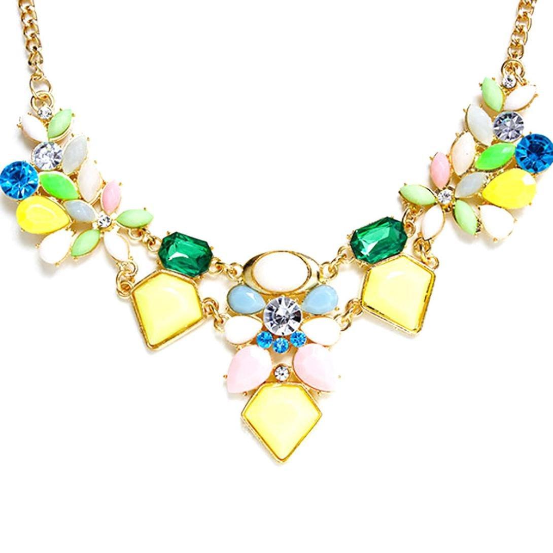 collier métal strass de couleurs... Bijoux fantaisie