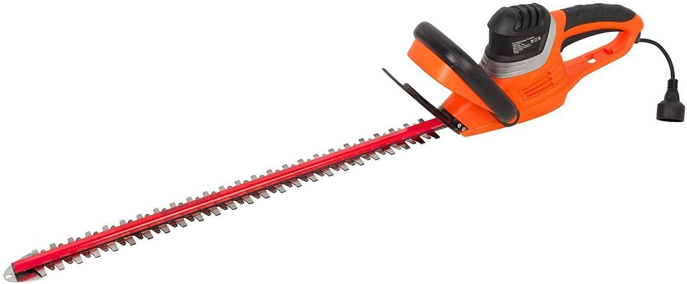 GARCARE 4.6-Amp Corded Hedge Trimmer with 24-Inch Laser Cutting Blade, Blade Cover Included