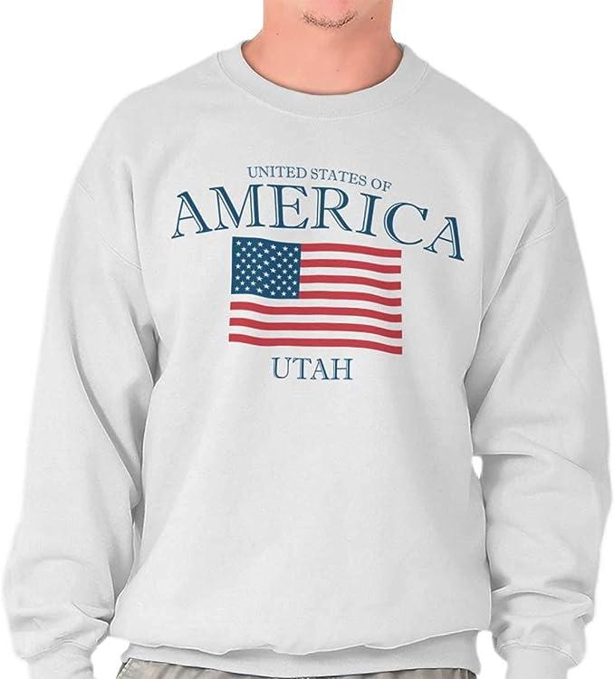 Classic teaze Utah Estado patriótica Ideas de regalo camiseta de Estados Unidos bandera Orgullo sudadera - Blanco - : Amazon.es: Ropa y accesorios