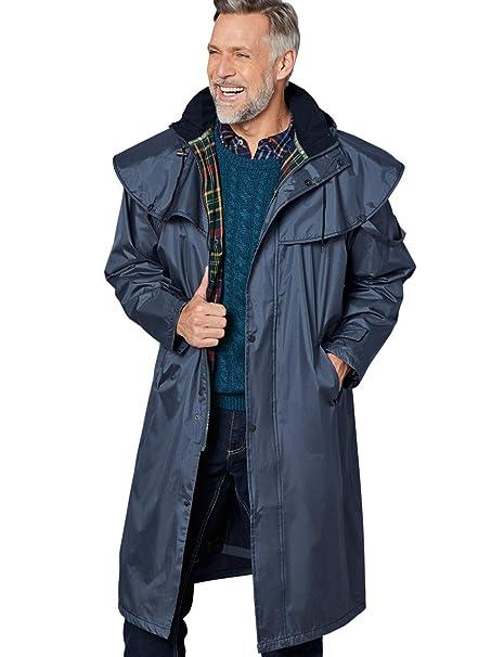 uomo impermeabile giacca da equitazione CHAMPION lungo