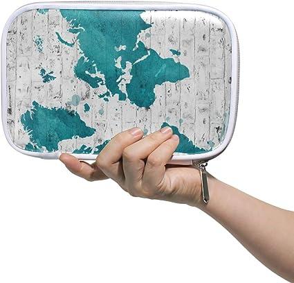 Caja de lápices Titular de la pared de ladrillo Mapa del mundo Cremallera Lápiz Bolsa Bolsa de maquillaje cosmético Bolsa de papelería Bolígrafo Caja Pasaporte Multifunción Organizador: Amazon.es: Oficina y papelería