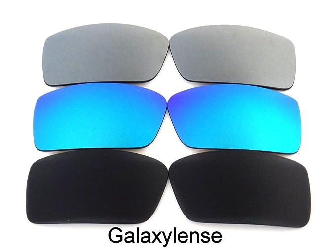 Lentes de repuesto para Oakley Gascan Negro y Azul y Gris Color Polarizados  -3 Pares 6719c52fd4