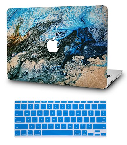 """KECC Laptop Case for MacBook Air 13"""" Retina (2020, Touch ID) w/Keyboard Cover Plastic Hard Shell Case A2179 2 in 1 Bundle (Sea)"""