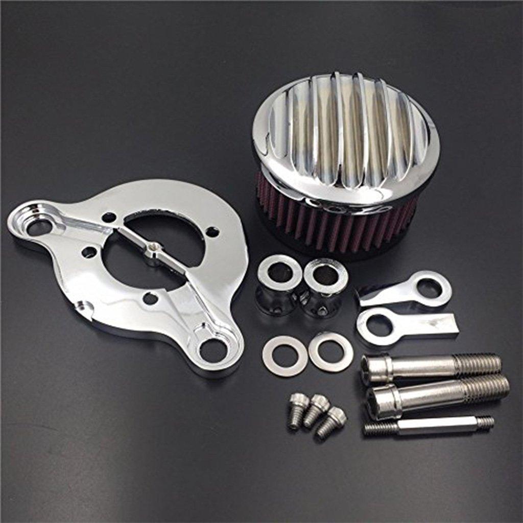 Chrome Finned Air Cleaner Intake Filter For Harley Sportster XL 883 1200 91-16