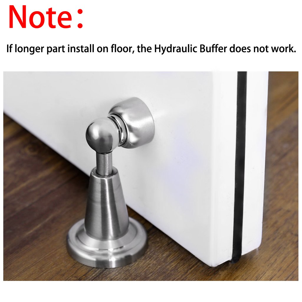 Sumnacon Powerful Magnetic Doorstop - Hydraulic Buffer Sound Dampening Door Stopper with Hardware Screws, Heavy Duty Stainless Steel Home Office Commercial Industrial Door Holder by Sumnacon (Image #6)