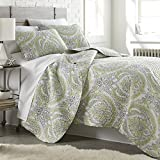 Southshore Fine Linens - The Pure Melody Collection - Quilts Sets, 2 Piece Set, Twin / Twin XL, Green