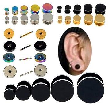 8Pcs Túnel Oído Calibres Expansor Estirar Kit, Tapones Ear Stretching Kit, Estirar Kit Expansor