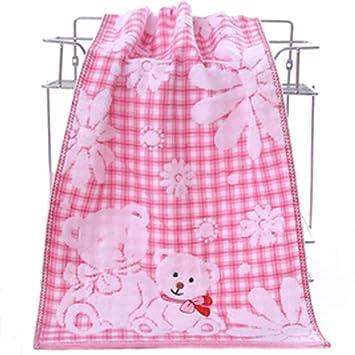 Xiang Toalla de baño de oso de dibujos animados Toalla de cara de algodón absorción de agua fuerte Toallas suaves comprimidos: Amazon.es: Hogar