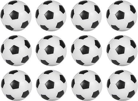 Mesa Fútbol Foosballs Pelotas de Repuesto Mini Negro y Blanco 36 mm Oficial futbolín 12 Unidades: Amazon.es: Deportes y aire libre