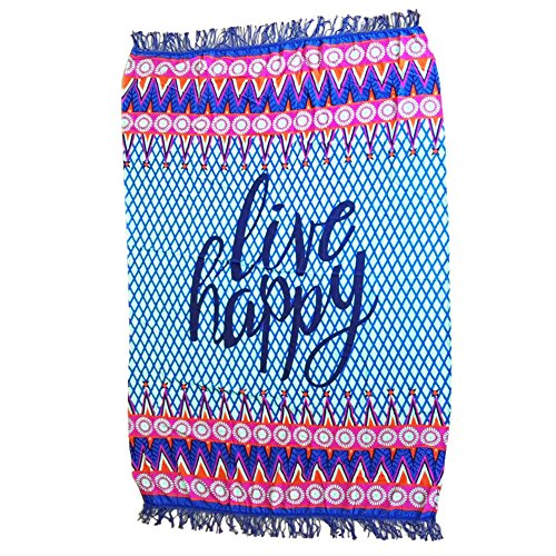 BYY Live Happy Beach Towel Blankets (Secrets Of A Bollywood Marriage)