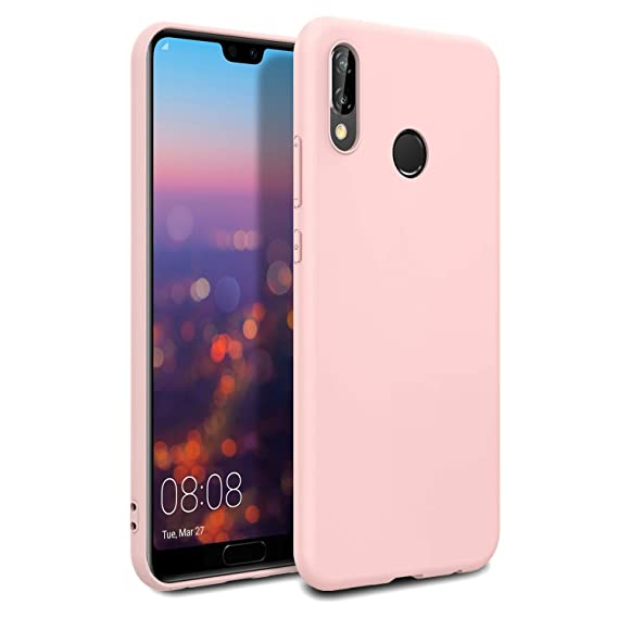 online store 1be55 97714 EasyAcc Case for Huawei P20 Lite, Light Pink TPU Phone Cases Soft Matte  Finish Slim Profile Back Protective Cover Compatible with Huawei P20 Lite