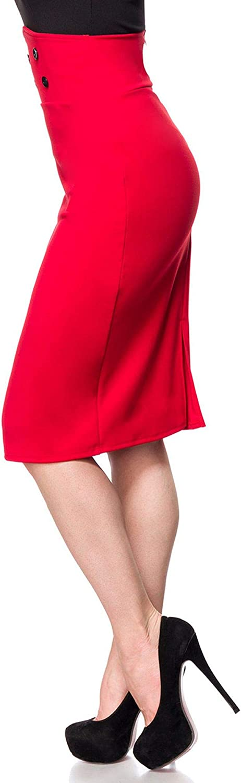 Bleistiftrock 50070 hoher Bund Retro Look von Belsira Vintage Mode Damen Rock