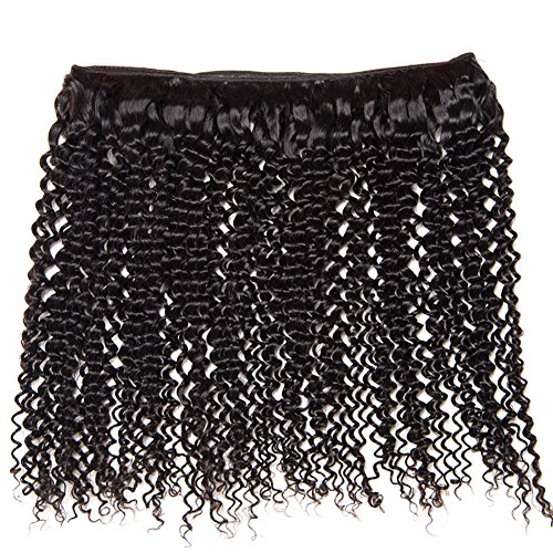 Shireen 10A Brazilian Curly Hair Weave 3 Bundles (20 22 24,300g) Virgin Kinky Curly Human Hair Weave 100% Unprocessed Hair Weft Extensions Natural Black Color by Shireen Hair (Image #4)